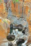 石形成,伯克的运气SA坑洼 库存图片
