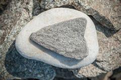 石心脏形状 免版税库存图片