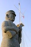 石战士雕象 免版税图库摄影