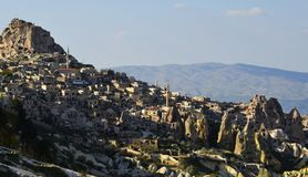 石房子在卡帕多细亚,土耳其 免版税库存照片