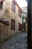 石房子在土耳其村庄 免版税库存照片