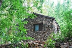 石房子在森林里 图库摄影