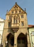 石房子在Kutna Hora,捷克 免版税库存图片