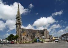 石教会在布里坦尼 免版税库存图片