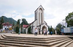 石教会在Sapa,越南 免版税图库摄影