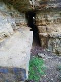 石方式洞段落步 免版税图库摄影