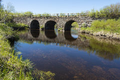石曲拱桥梁Jamtland 免版税图库摄影