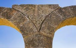 石曲拱特写镜头在Susya的在约旦河西岸 库存图片