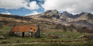 石村庄,斯凯岛,苏格兰小岛  库存照片