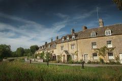 石村庄, Cotswold,英国看法在更低的屠杀的 图库摄影