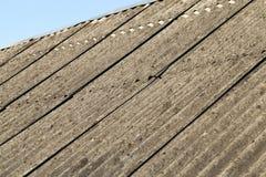 石板屋顶,特写镜头 库存图片
