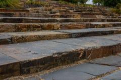 石板岩台阶在皇家植物园维多利亚里 图库摄影