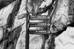 石林向森林@昆明,云南,石林扔石头 免版税图库摄影