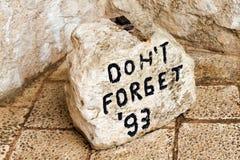 石标志在莫斯塔尔 免版税库存照片