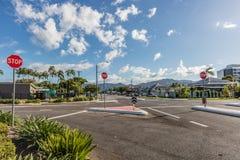 石标,昆士兰,澳大利亚城市交叉路  免版税库存图片
