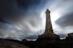 石标Brea ` s露头纪念碑 库存图片