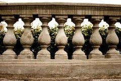 石栏杆的支 免版税库存照片