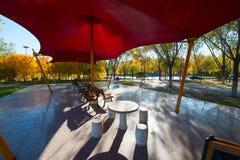 石桌和椅子 免版税库存照片
