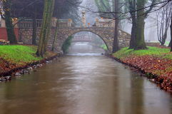 石桥梁。 免版税库存图片