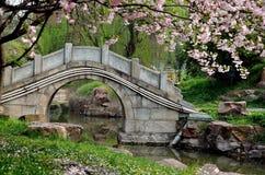 石桥梁 免版税库存照片