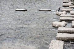 石桥梁在日本 图库摄影