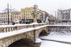石桥梁在索非亚,保加利亚 库存图片