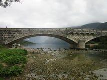石桥梁在Bohinj 免版税库存图片