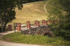 石桥梁, 19世纪,立陶宛 库存照片