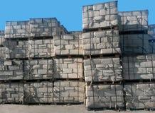 石棉包装存贮 免版税库存照片