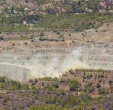 石棉采矿爆炸在塞浦路斯 免版税库存照片