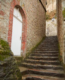 石楼梯和门 图库摄影