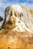 黄石橙色春天土墩美国美国大峡谷 免版税库存图片