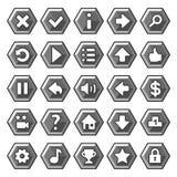 石比赛按钮 免版税库存图片