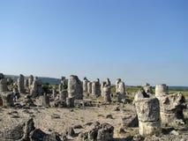 石沙漠在保加利亚 库存照片