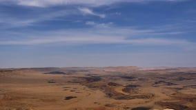 石沙漠看法有清楚的蓝天的 库存照片