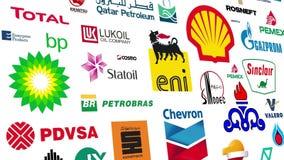 石油公司商标圈 向量例证