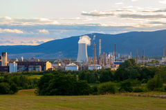 石油化学的工厂设备,捷克 库存照片