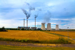 石油化学的工厂设备,捷克 图库摄影