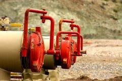 石油化学的管道 库存照片