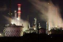 石油化学的精炼厂 免版税库存图片