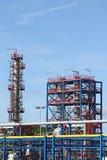 石油化学的建造工厂站点 库存照片