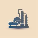 石油化工厂标志,精炼厂 皇族释放例证