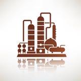 石油化工厂标志,精炼厂 向量例证