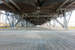 石油化工厂空气冷却的热转换器 免版税库存照片
