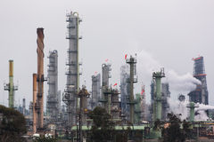 石油化工厂风景 免版税库存图片