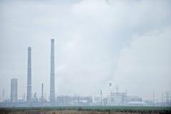 石油化工厂风景 免版税库存照片