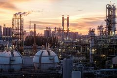 石油化工厂 库存照片