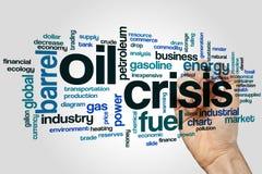 石油危机词云彩 库存图片