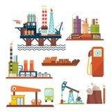 石油工业汽油柴油的企业概念 皇族释放例证