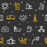 石油工业背景样式 向量 库存例证